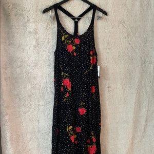 Polka dot rose black Volcom dress